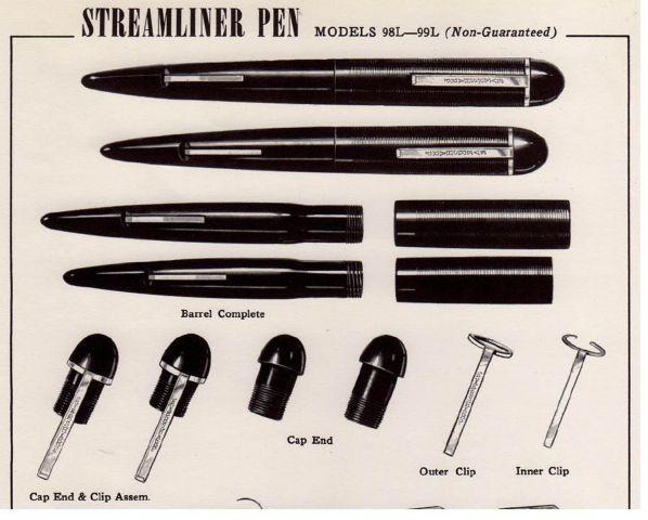 streamliner from Wahl-Eversharp Service Manual 1947